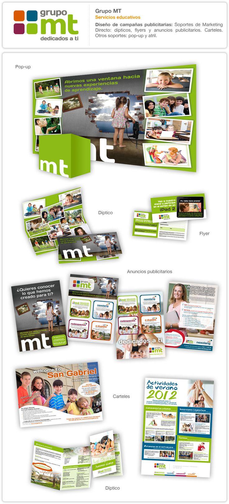 Diseño de campañas publicitarias: Soportes de Marketing Directo: dípticos, flyers y anuncios publicitarios. Carteles. Otros soportes: pop-up y atril.