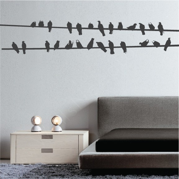 Impress Your Friends And Family With The Bird Wires Wall Decal    Hallway maybe