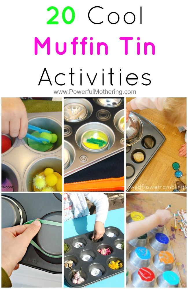 Great collection of activities for kids that are all in muffin tins! from PowerfulMothering.com