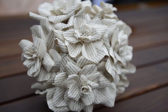 Paper Rose Bouquet and Boutonni�re, Alternative Wedding Flower Bouquet, Origami flower Bouquet, Origami flowers.