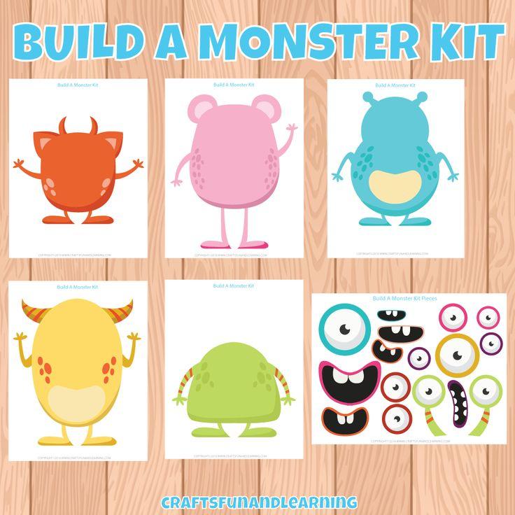 Free Printable Build A Monster Kit!