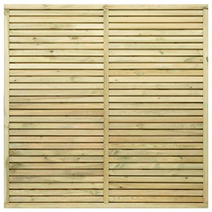 Grange Contemporary Vogue Wooden Fence Panels - 6ft | Internet Gardener