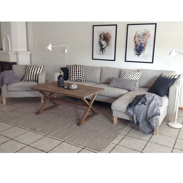 Karlstad Sofa With Chaise Replace The Legs California Living Room Pinterest Chairs Eames