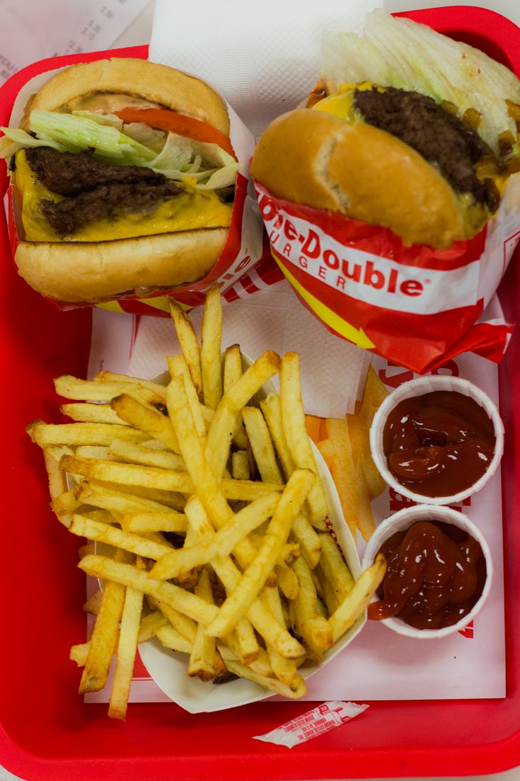 There are so many great places to eat in Las Vegas, and many are off of the The Strip. One of our favorites is In N Out Burgers for Double Double burgers and fries.