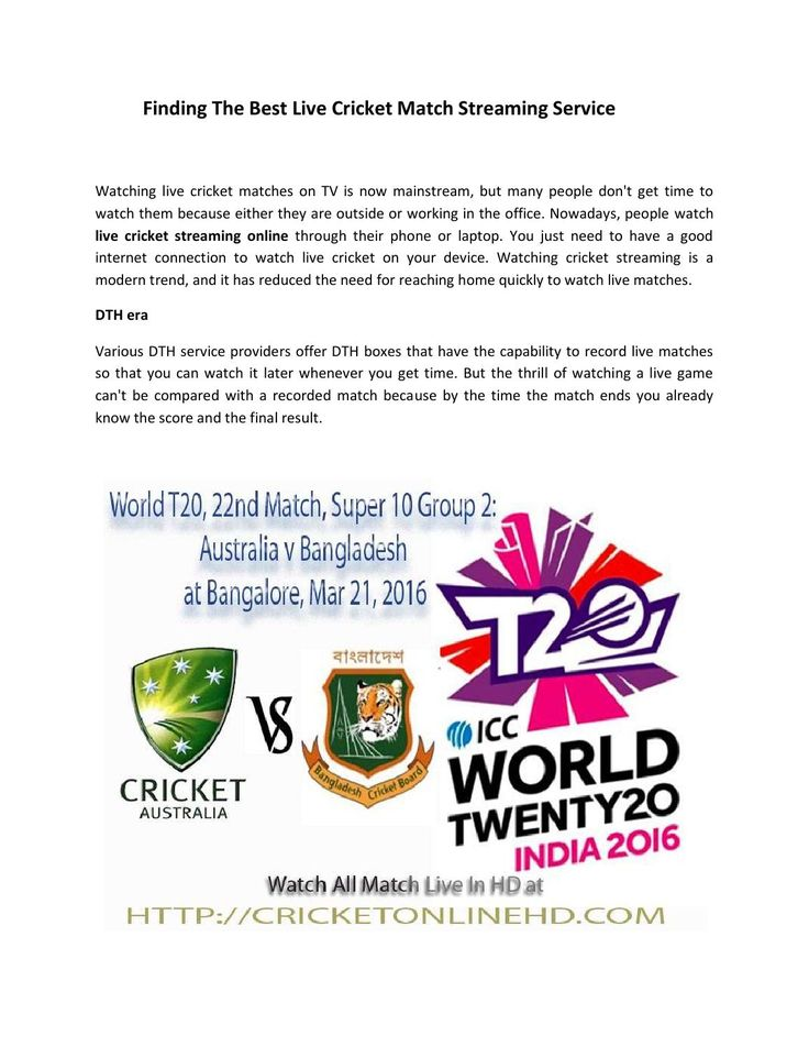 Finding the best live cricket match streaming service