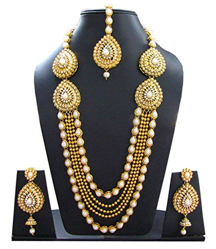 Shoppingover Womens Kundan Polki Pearls Gold Necklace Set... https://www.amazon.com/dp/B01IDSHFGM/ref=cm_sw_r_pi_dp_hxOHxbYBSQTTC