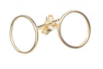 925 Ayar Gümüş Halka Küpe, Sarı