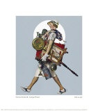 Antique Hunter Giclee Print by Norman Rockwell