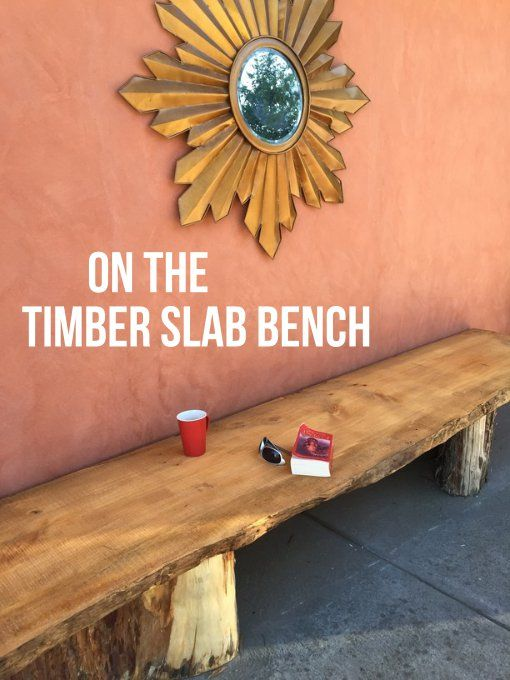 The timber slab that seats 8 or sleeps 2.