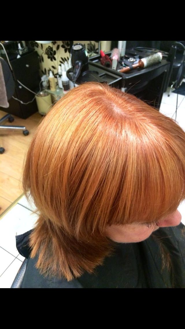 Copper goldwell colour with highlights