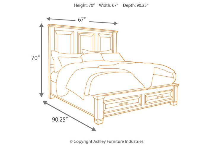 Townser Queen Panel Bed with Storage | Ashley Furniture ...