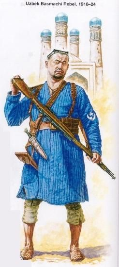 Uzbek Basmachi rebel, 1918-24
