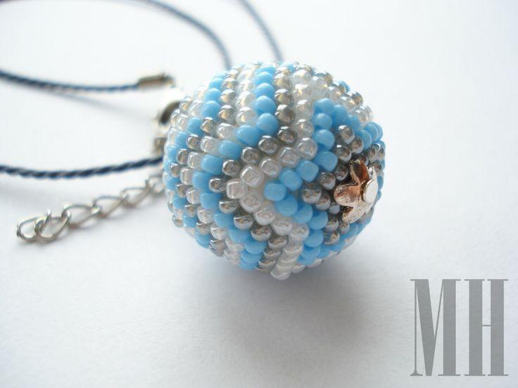 BŁĘKITNY ZESTAW   MH Biżuteria - cuda ręcznie wykonane