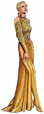Mata Hari.  GarboForever - Greta Garbo Paper Dolls.    Taken from the book: Greta Garbo Paper Dolls in Full Color, by Tom Tierney (England 1985)