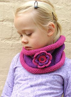 You will need to know the basics of knitting and crocheting for this pattern. The cowl is knitted and the flower is crocheted.