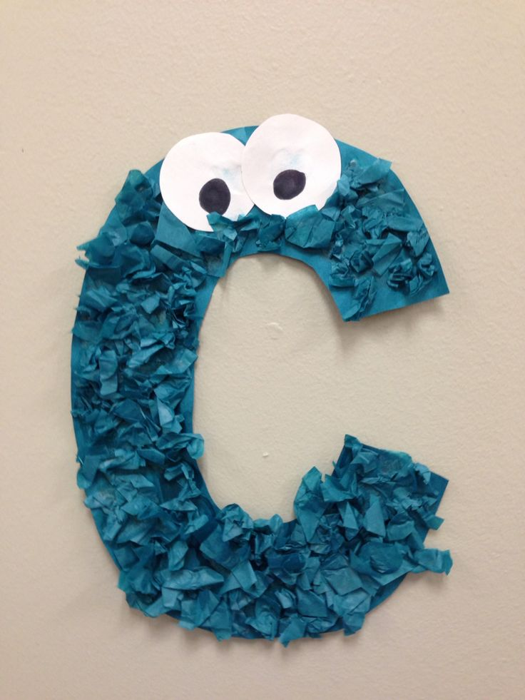 Letter C Cookie Monsters Preschool Craft                                                                                                                                                                                 More