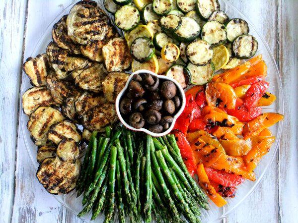 Simple grilled vegetable platter