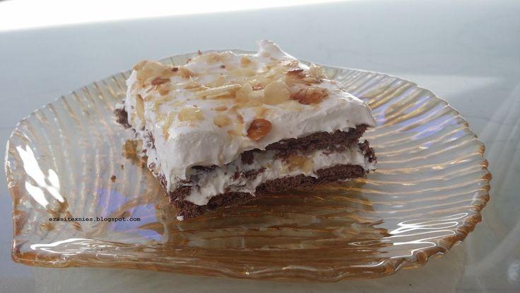 ΥΛΙΚΑ   1 Μορφατ  1 ζαχαρούχο γάλα  1 και κάτι πακέτα μπισκότα πτι μπερ με σοκολάτα  1 συσκευασία αμύγδαλα φίλε  λίγο γάλα εβαπορέ διαλ...