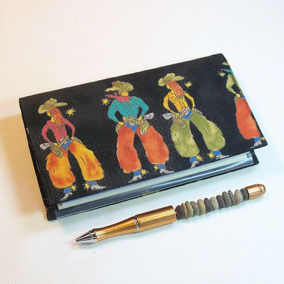 Cowpokes Checkbook Cover for Duplicate Checks by QuiltSewCover, $12.00