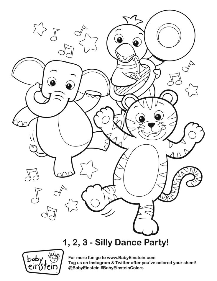 Baby Einstein Coloring Pages Sketch Coloring Page Reading Baby ...