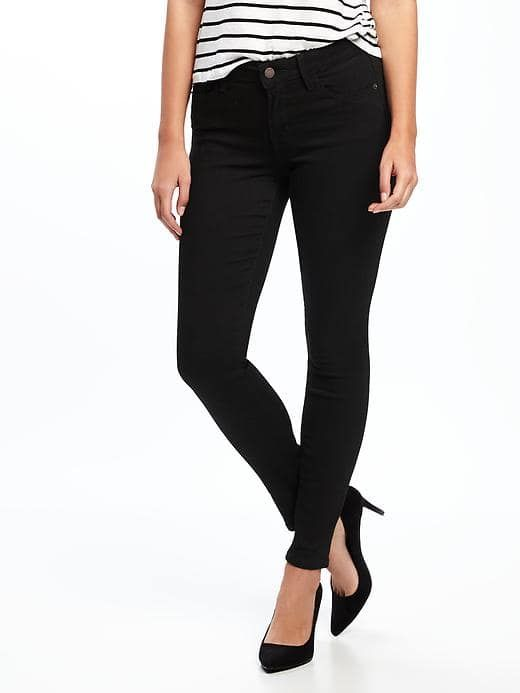 mid rise rockstar skinny jeans.  SIZE 4. color: black and or burgundy.