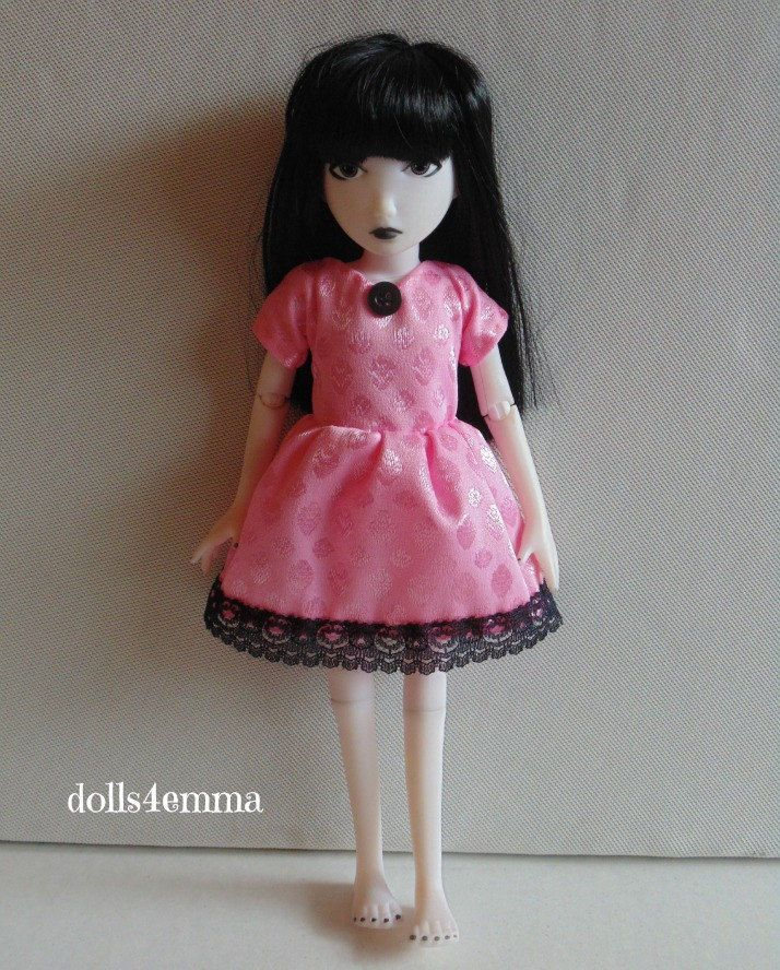 BABYDOLL DRESS for EMILY the STRANGE Ashton Drake handmade Fashion NO DOLL d4e