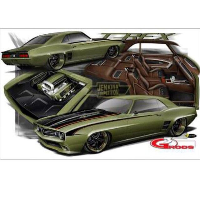1969 camaro code named t rex green and black with brown interior so custom pro touring chevys. Black Bedroom Furniture Sets. Home Design Ideas