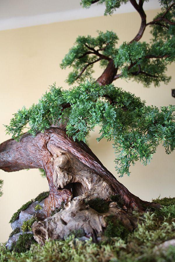 Sztuczne drzewko bonsai zokei wykonane na indywidualne zamówienie.
