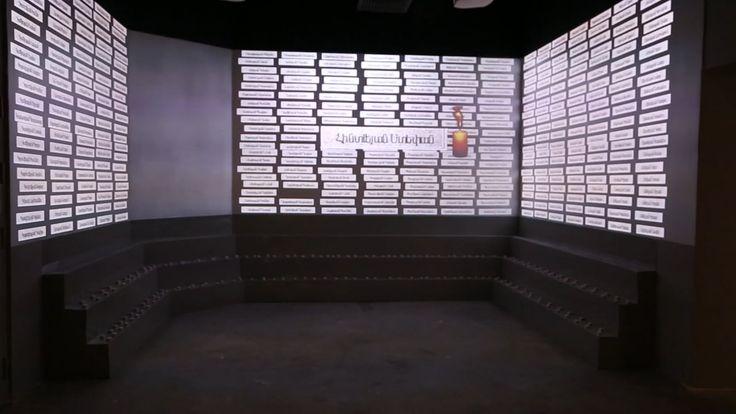 """Мультимедийная инсталляция """"Мемориал"""" представляет собой проекцию трехмерных табличек с именами на три стены комнаты, сшитых в единое изображение, с возможностью удаленного изменения надписей на табличках. Сшивка трех проекторов Optoma и real-time графика из Unity 3D.#технологии #мероприятие #event #праздник #презентация #корпоратив #vip #проектор #мультитач #видео #голограмма #виртуальная_реальность #приложение"""