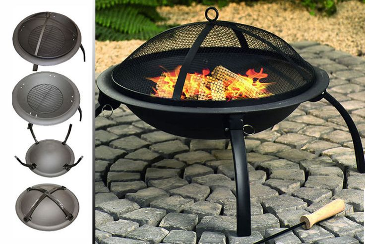 Contemporary Steel Fire Pit deal in Sheds & Garden Furniture Get a  fire pit for your garden!  Comes with a mesh lid for safety,  A contemporary steel design.  Think outside of the box this summer!  Spend time outside without freezing from the winter chill! BUY NOW for just £24.99