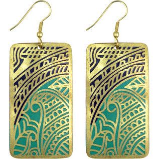 """Beauty from all angles! Elaborate cutout paisley designs adorn these stunning earrings from Asha Handicrafts. The association's name, meaning """"hope"""" in Sanskrit, represents its goal to sustain the marketing ability of individual and family–based artisans."""