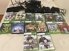 Xbox 360 Kinect Bundle 4GB Black Console 14 Games 2 Controllers And ChargerClean