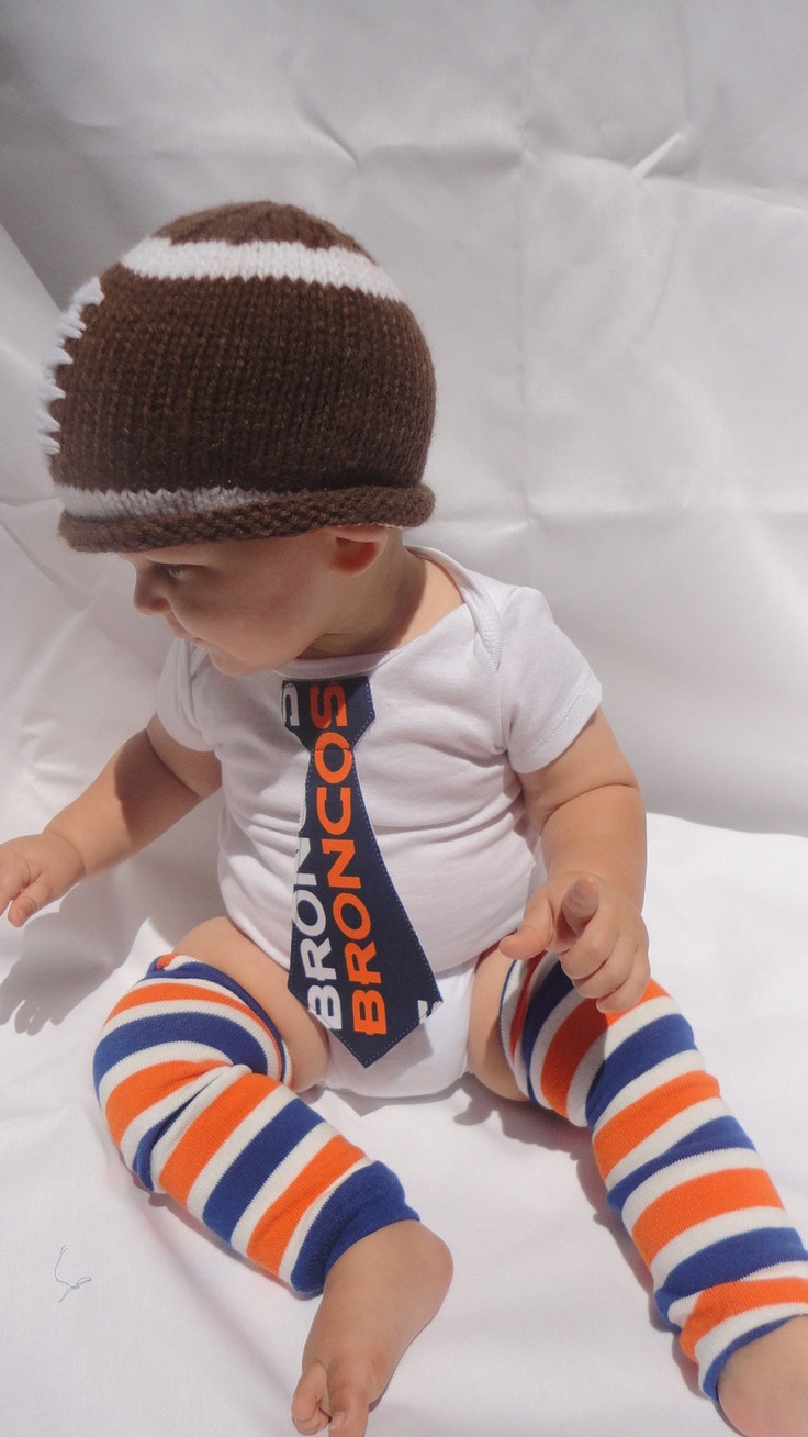Denver Broncos Baby Boy Outfit  Tie Onesie by Fabric2Fashion, $36.00