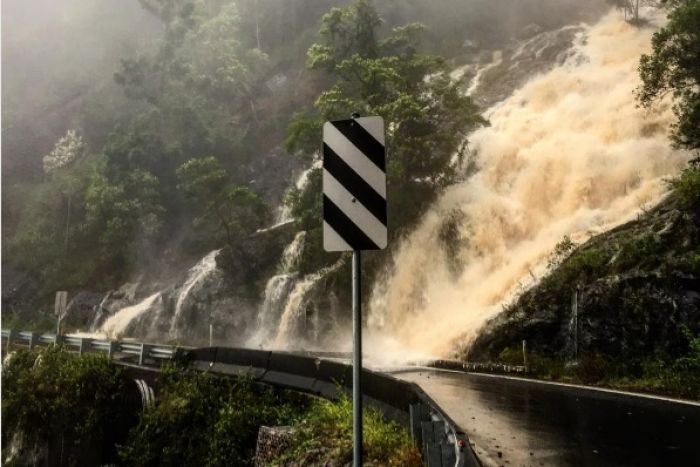 Waterfalls hit the roads in Dorrigo, NSW, March 18, 2017