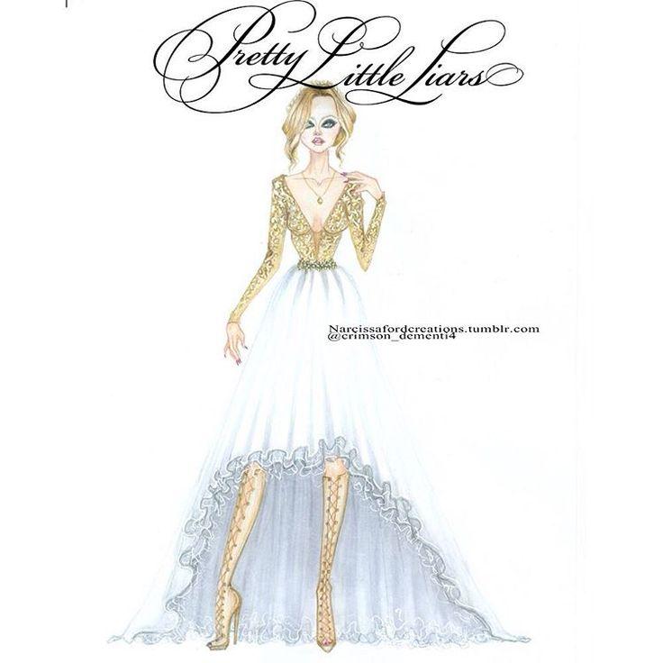"""Pretty Little Liars 6x9 The Last Dance - Hanna Marin Prom Dress. Designed by ❤️@sherrihill ❤️ @mandiline @itsashbenzo @prettylittleliars…"""