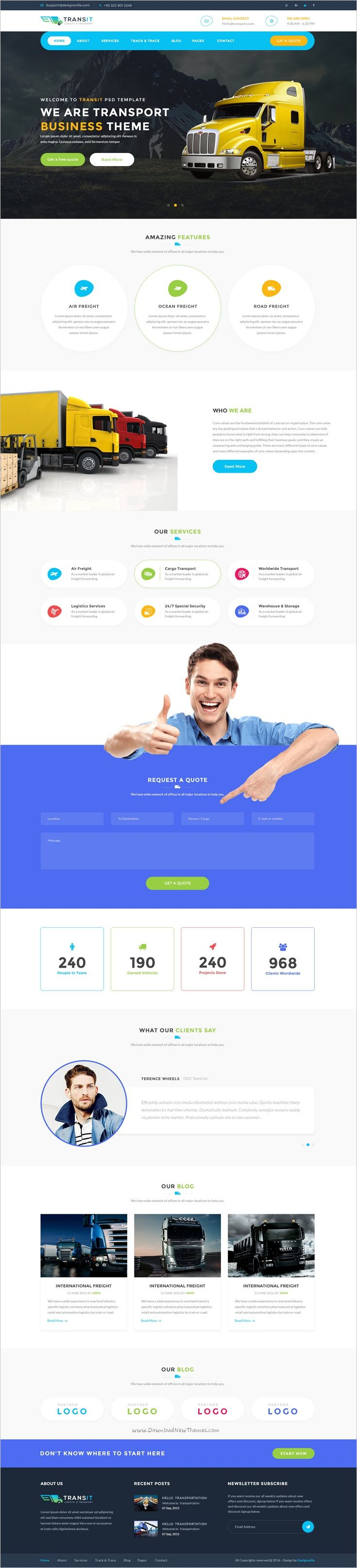Transport is #PSD template created for #webdesign #cargo #delivery logistics, trucking, transportation companies and small freight business websites download now➩ https://themeforest.net/item/transport-logistics-transportation-business-psd-template/18996996?ref=Datasata