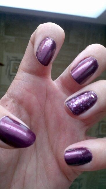 Purple colorama and colortrend nail polishes