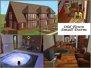 Small cozy dorm for 4 sims.