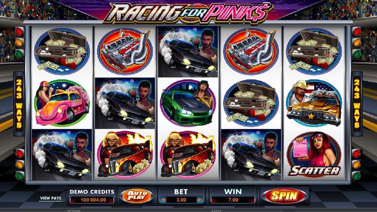 """""""Racing For Pinks"""" es un nuevo juego de tragamonedas de casino en línea con la forma más fácil de ganar el premio mayor!"""