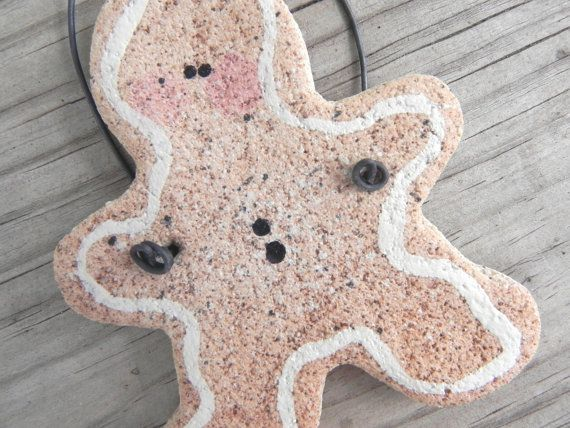 Gingerbread Salt Dough Ornament Gift Idea Party Favors Gift Tag Ornament