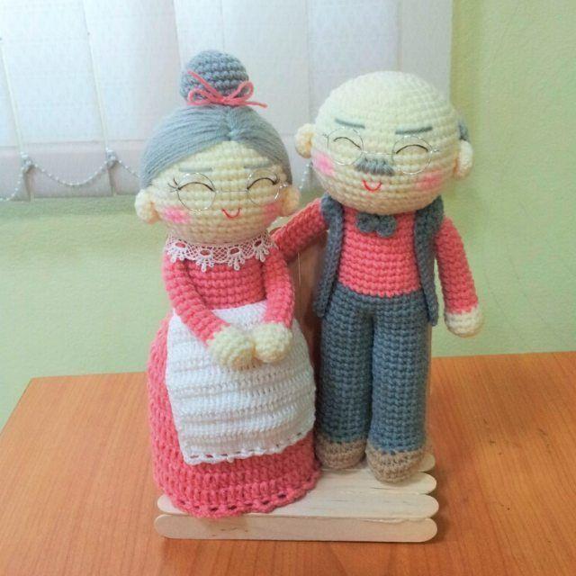 Free Amigurumi Wedding Couple Pattern : Best crochet i like bride and groom amigurumi or