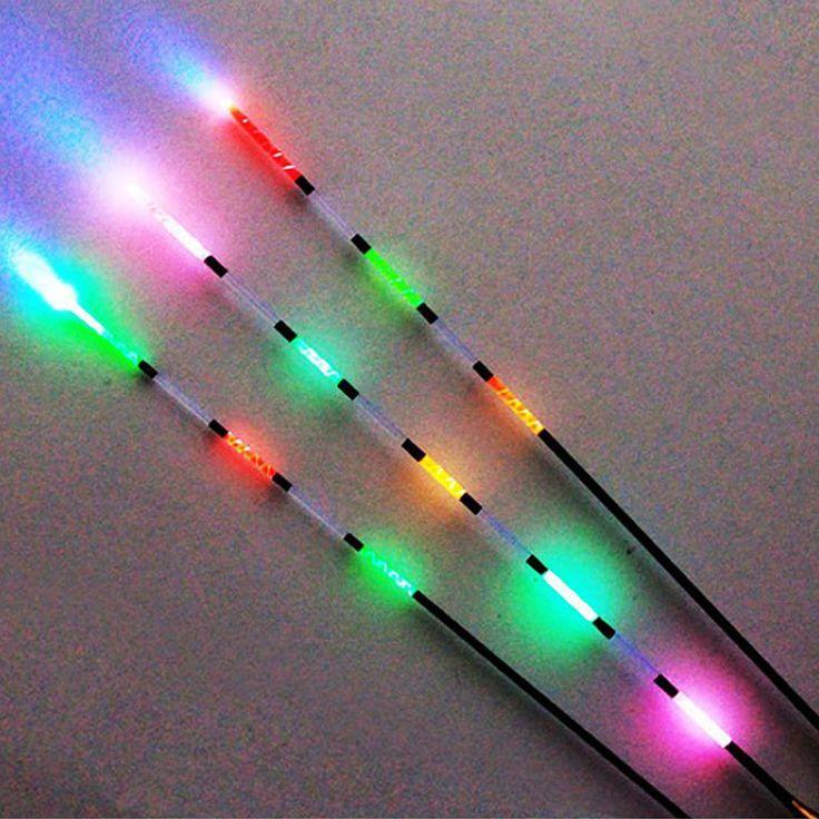 3 stücke Led Elektronische Fischen Schwimmen + Batterie Nachtsicht Elektrische Schwimmen Licht Batterie Angelgerät Leucht Elektronischen Float