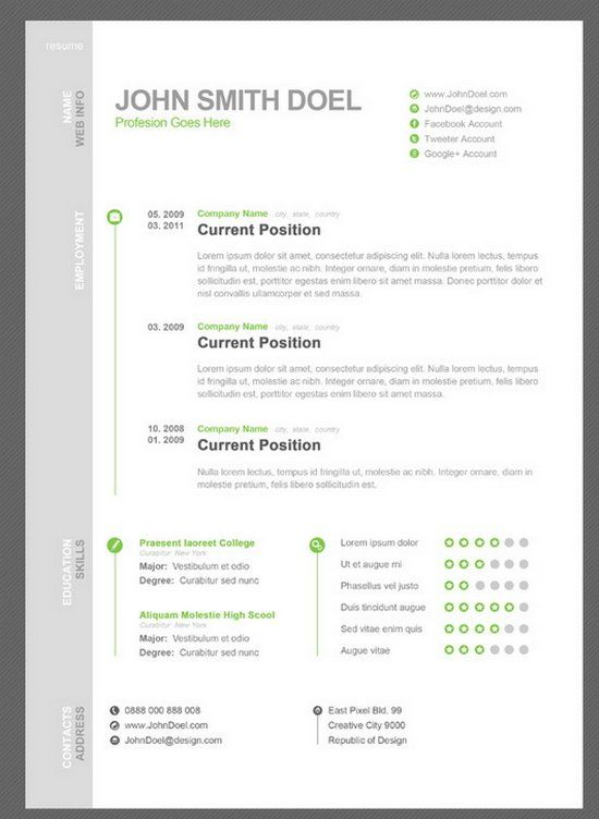 7 Free Resume Template Just Used This One   My Resume Looks So Clean Cut And