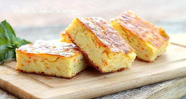 Placinta cu dovlecei si morcovi Retete culinare. Mod de preparare, ingrediente placinta cu dovlecei Reteta aperitiv placinta cu dovlecei si morcovi