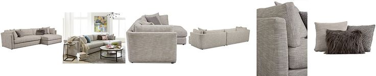 Leonora 2-Pc. Sectional with Chaise & 5 Toss Pillows, Only at Macy's