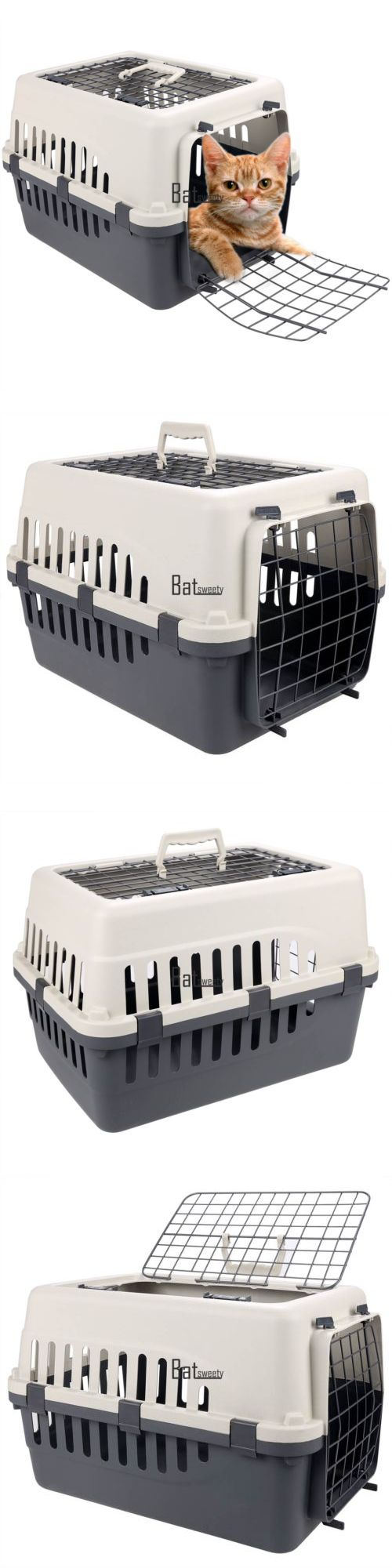 Carriers and Crates 116362: 18Inch Pet Carrier Two Door Top Load Pet Kennel Travel Crate Dog Cat Puppy Cage BUY IT NOW ONLY: $30.06