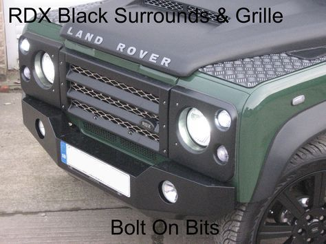 Up for sale is one of Bolt On Bits RDX Gloss Black Front Grille & Surrounds. Comes with premium supercharged Aluminium Mesh. Constructed from ABS plastic and finished in Gloss Black. Land Rover 90/110 Defender 200 Tdi. | eBay!