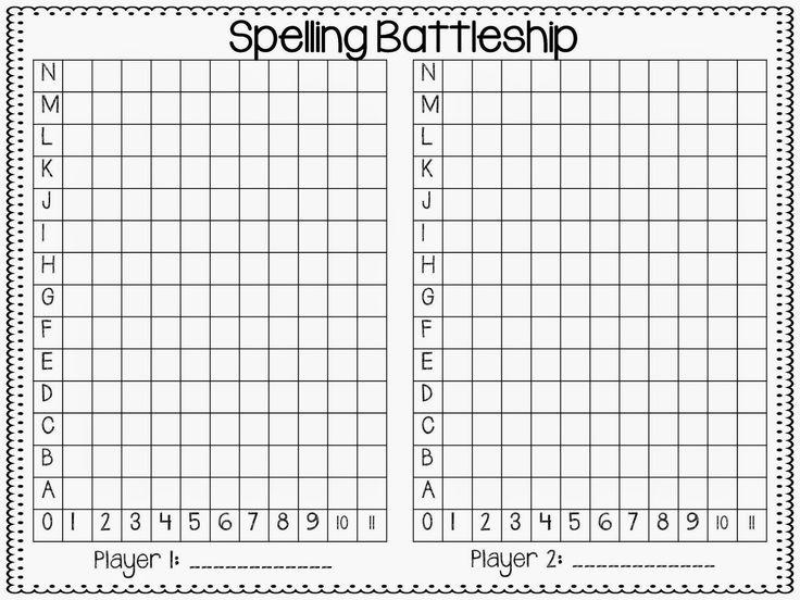 64 best WordsSpellingChunksSight Words images – Sample Battleship Game
