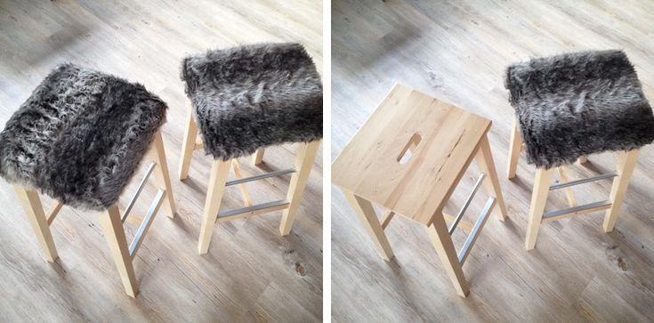 DIY - betræk til barstol