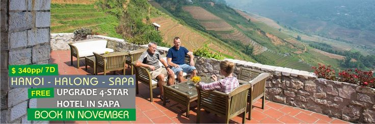 Special offer only for November 2015: 7 Days Hanoi - Halong bay - Sapa tour from 340 US$/person with Free Upgrade to 4-star Sunny Mountain hotel in Sapa : http://vietnamcheappackages.com/travelpackages/hanoi-halong-sapa-tour-7-days.html #hanoi #halongbay #sapa